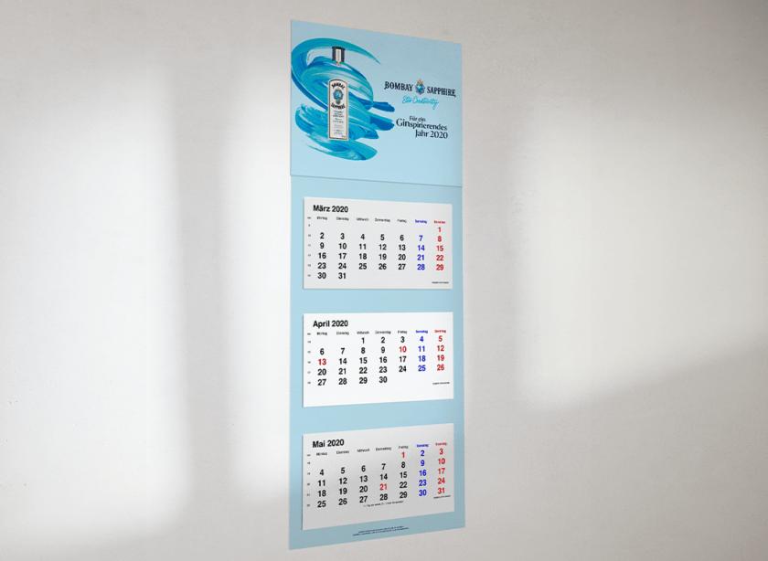 3-Monatsplaner- Kalenderproduktion
