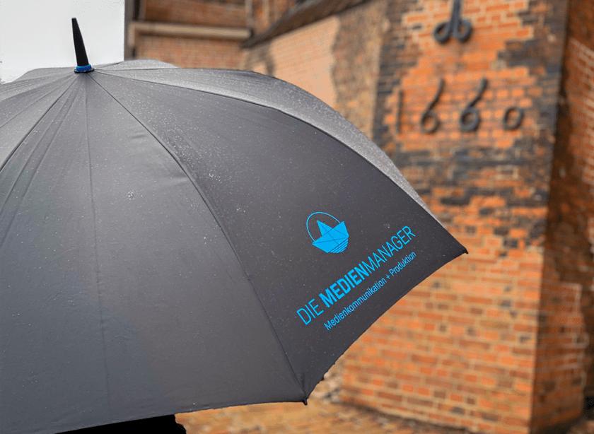 Werbemittel Regenschirm