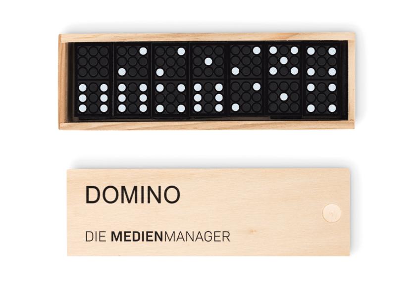 Werbemittel Dominosteine