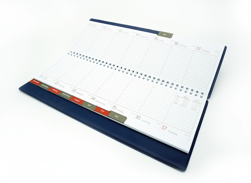 Tischquerkalender, Kalenderprodukton
